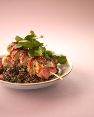 "Barbecued scallops.""A seafood delight fresh from the outdoor grill"". (Jamie Oliver)"