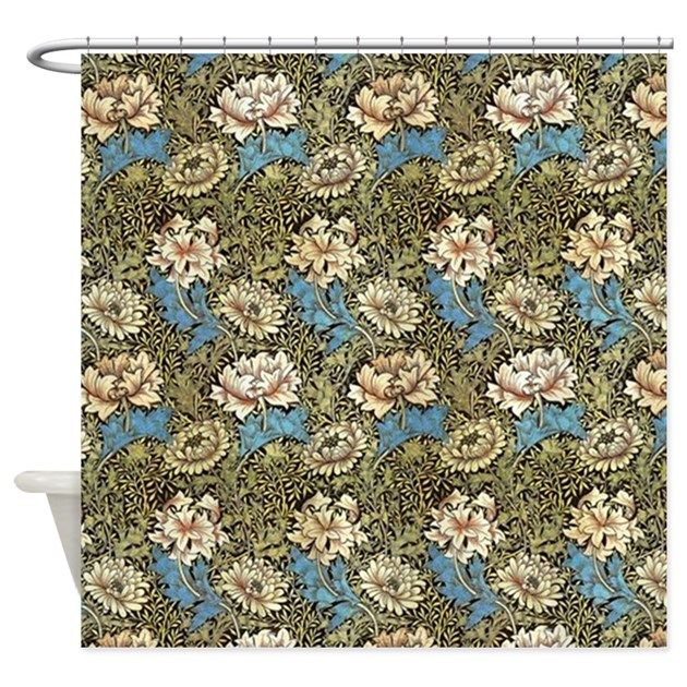 William Morris Chrysanthemum Patter Shower Curtain By