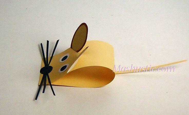 Paper mouse for kids   Mashustic.com