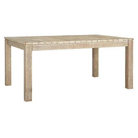Buy John Lewis Bilbao Rectangular 6 Seater Outdoor Dining Table, FSC Eucalyptus Online at johnlewis.com