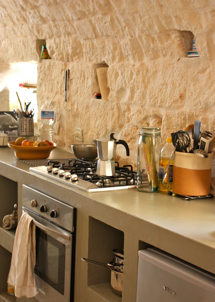 "Our kitchen in ""The Stone House', Ostuni, Italy"