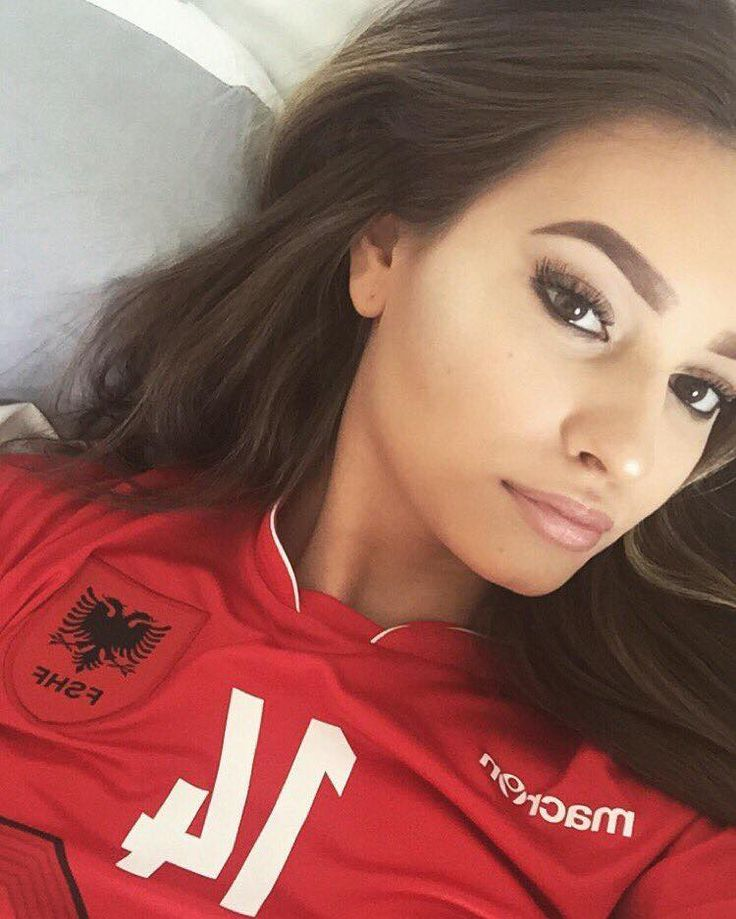 Beautiful Albanian Fans at Euro 2016 championship.  #TeamAlbania #Albanian #Team #Beautiful #Girl