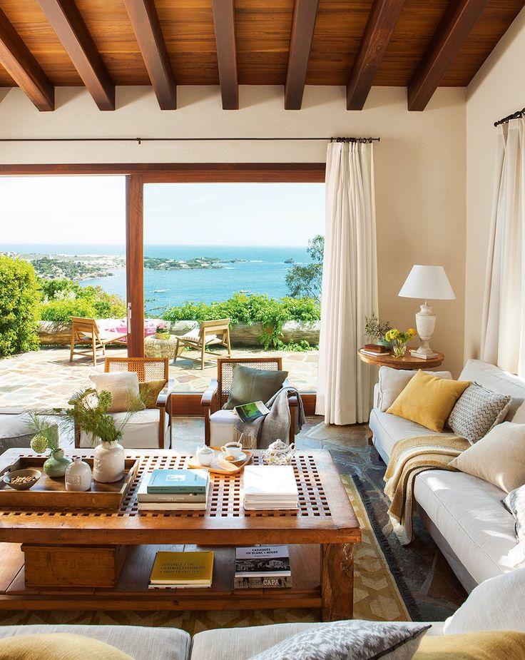 Las 25 mejores ideas sobre techos de madera en pinterest - Casas de madera decoracion ...