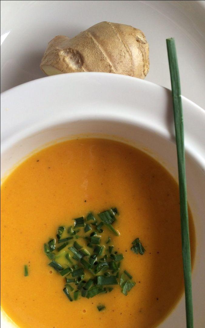 karotten ingwer suppe mit beluga linsen — rezepte suchen