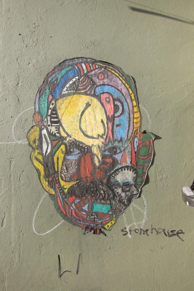 Argentina Buenos Aires graffiti head