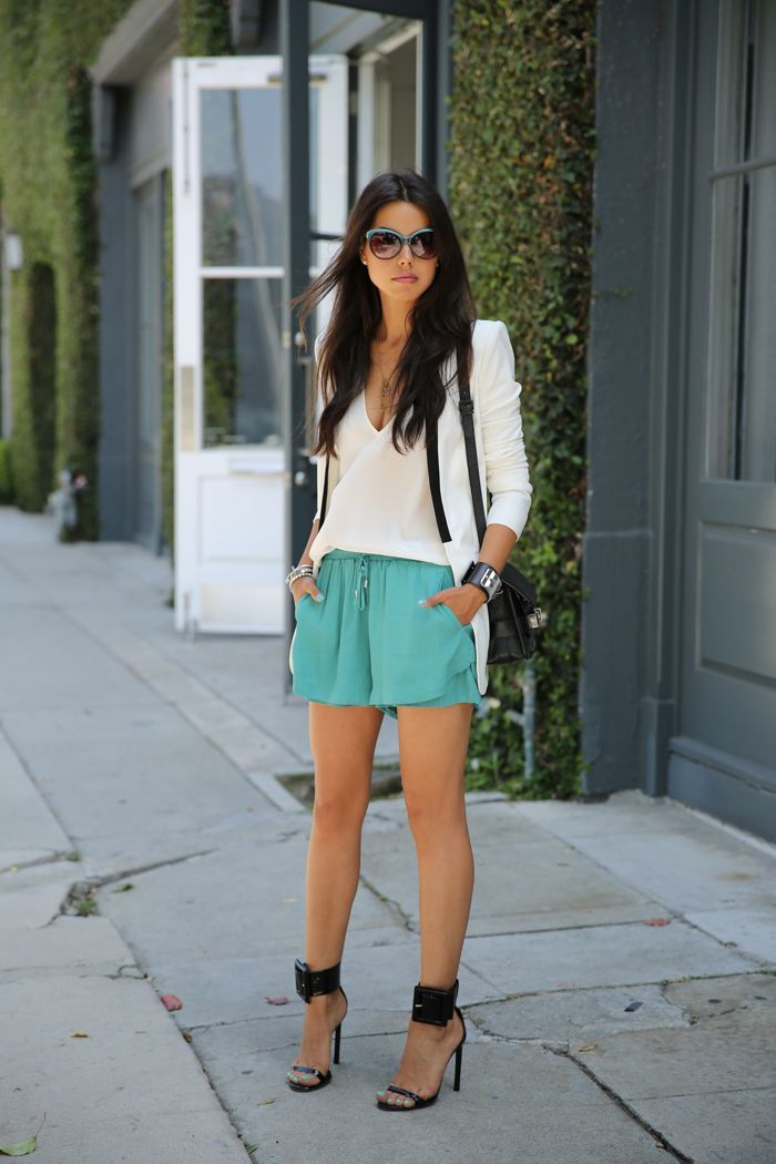 teal shorts from style mint