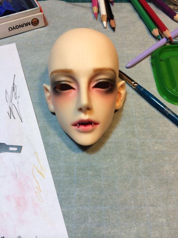 Gluino vampire faceup by me bjd doll
