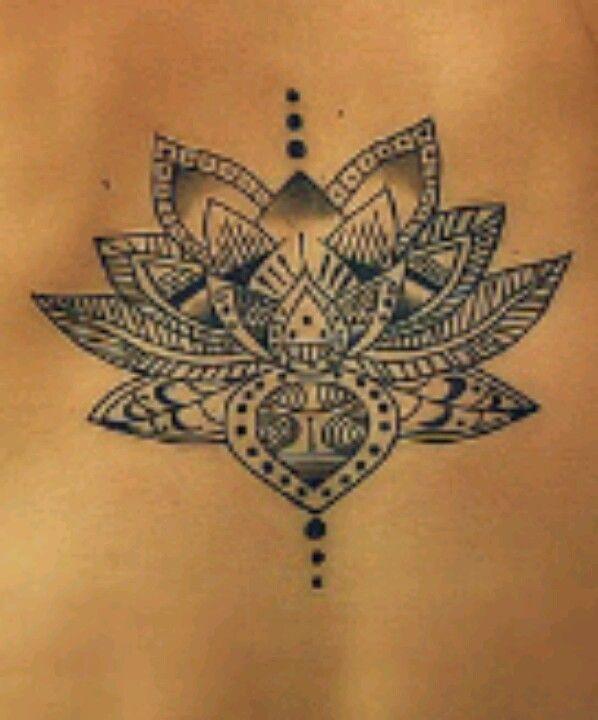 Tribal Lotus Flower Tattoo