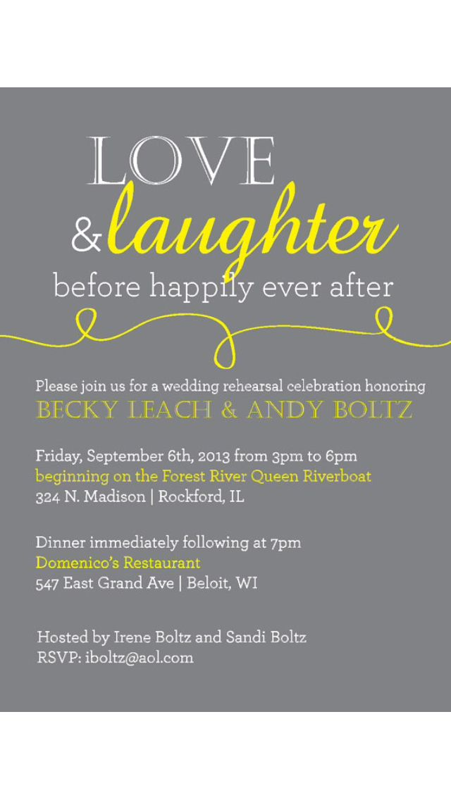 Best 25 Rehearsal dinner invitation wording ideas – After Rehearsal Dinner Party Invitations