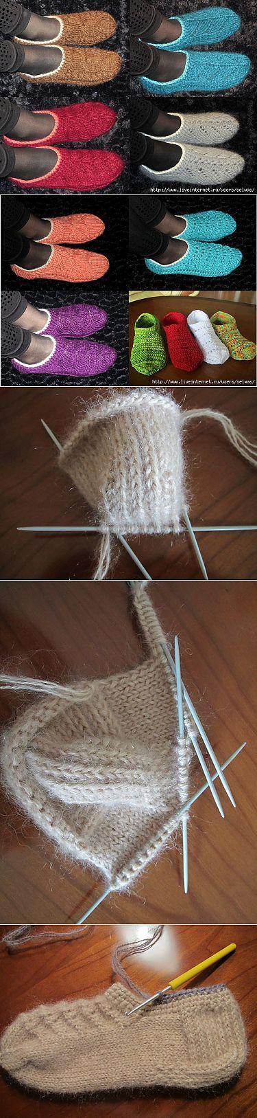 Тапочки-следки. | Вязание | Постила