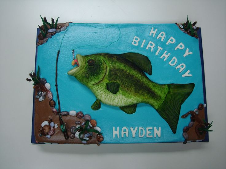 Fishing+Birthday+Cakes+for+Men | Crappie Fish Cake