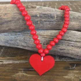 Heart Necklace | Red #oliverthomas #zavthebrave #heart #heartnecklace #girlsnecklace #necklace #kidswear #kidsnecklace