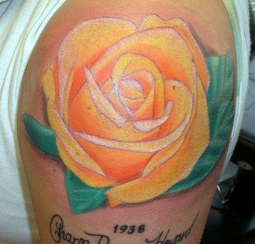 Tattoo Ideas Yellow Rose: Yellow Rose Tattoos