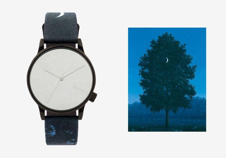 Komono x René Magritte — hodinky Winston — pánské, dámské — surrealistické motivy — Sixteenth of September — 16. září #watches #komono #surrealism #magrite #renemagritte #surrealismus #hodinky #winston