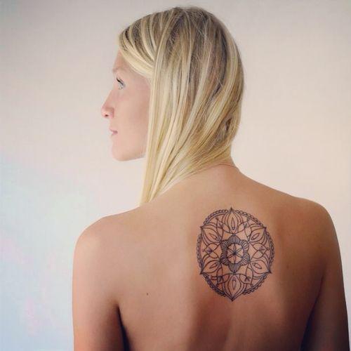 Mandala Circle Back Body Tattoo