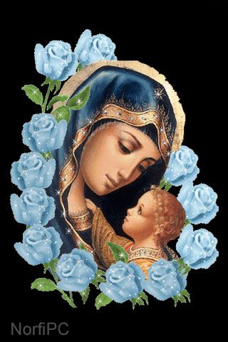 Hermosa ilustración de la Virgen María