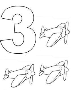 üç 3 Rakami Boyama Sayfasi Rakamlar Preschool Worksheets Home