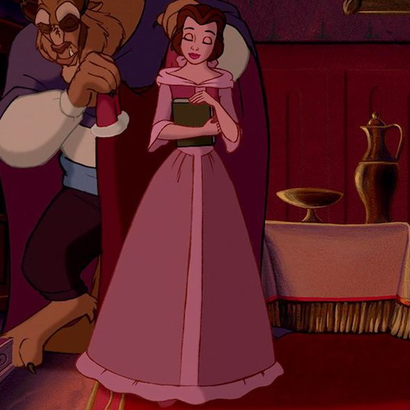 Belle In Her Lovely Pink Dress