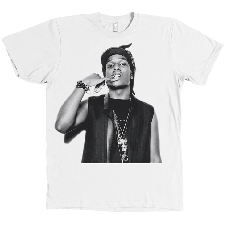 ASAP Rocky AMERICAN APPAREL T Shirt A$AP Mob Tee NEW WITH TAGS #AmericanApparel #GraphicTee
