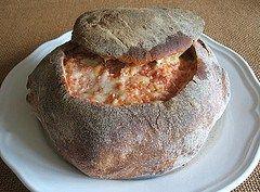 Stuffed bread Alentejo Style