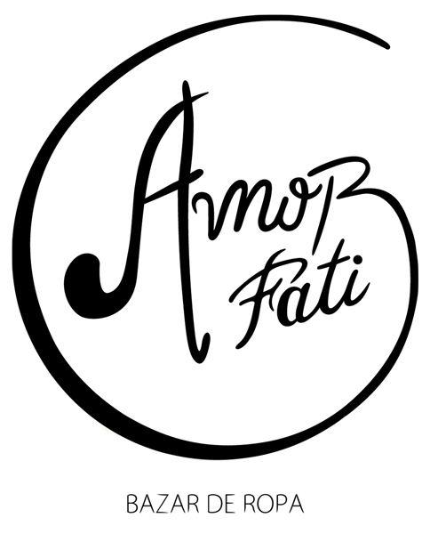Logotipo para el bazar de ropa Amor Fati.