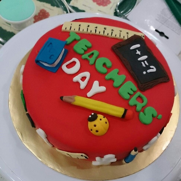 Teachers  Day cake Peekaboo Pinterest
