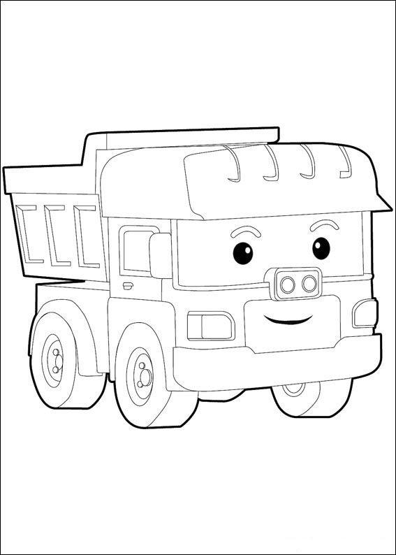 Robocar poly fargelegging for barn tegninger for utskrift for Robocar poli coloring pages