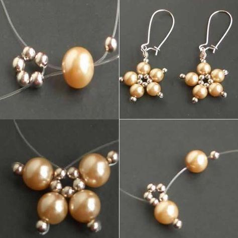 25 + › Blume Perlen EarringsFree Diy Schmuckprojekte