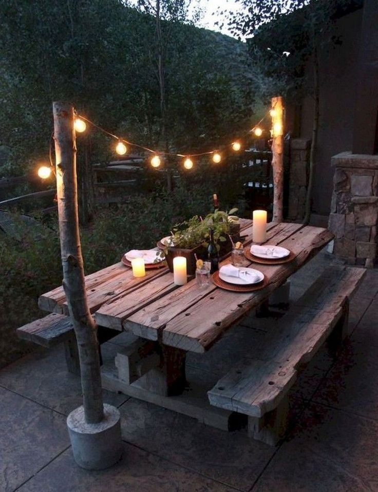 53 + Comfy Patio Table Ideen auf ein Budget