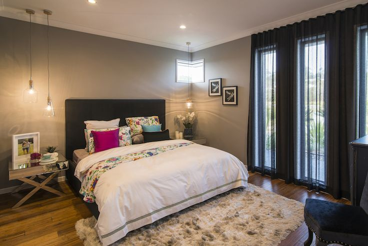 Main bedroom in a modern urban theme.