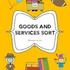 Students can show their understanding of goods and services.  This freebie includes a two page printable.  Students first color and cut pictures th...