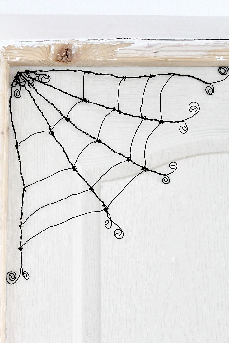 This Spooky/cute spider webis so adorable and easy to make, with craft supplies you might just have on hand. Learn how to make a wire spider web for a perfect Halloween party!