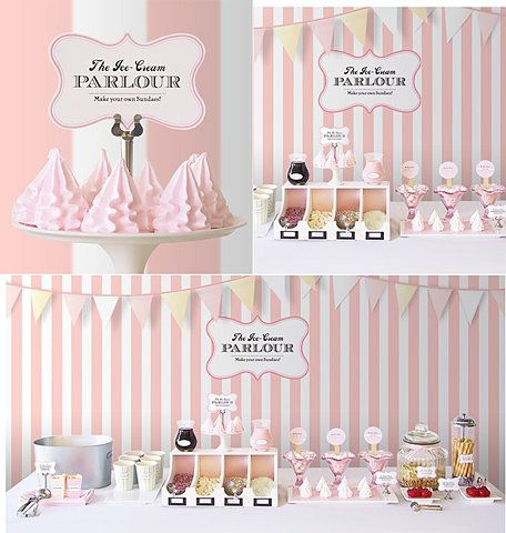 Pink and white candy-coated party dream