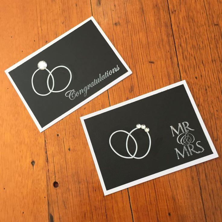 Congratulations card #rings #handmade