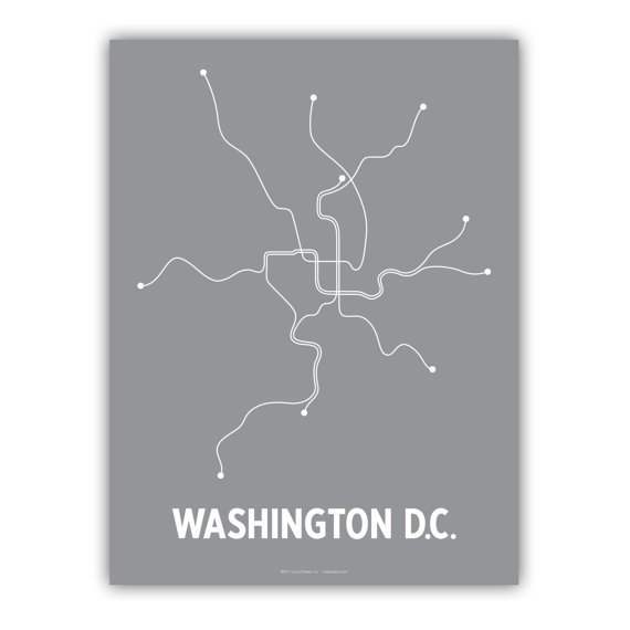 Washington DC Lineposter  Gray/White by lineposters on Etsy, $20.00: Wall Art, Picture-Black Posters, Linepost Gray Whit, Colors Gray, Prints Coral, Digital Prints, Acrylics Paintings, Metro Maps, Metro Art