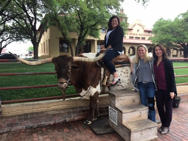 Becky, Andrea and Mitzi got the chance to pose with a long horn after the Simpli.fi Local Programmatic Summit in Fort Worth, Texas. It was awesome taking in some of the local landmarks!