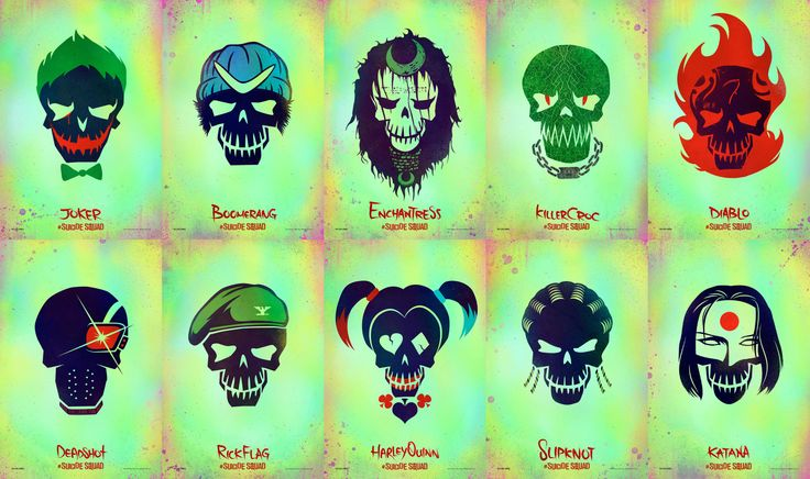 Suicide Squad  | Suicide Squad' launches character icon logos – CINEMA BRAVO