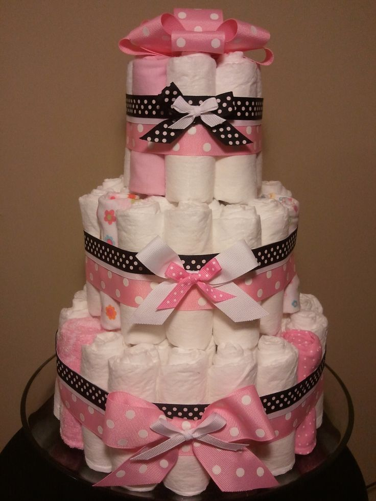 Diaper Cakes Pink And Black Diaper Cake Pink And Black