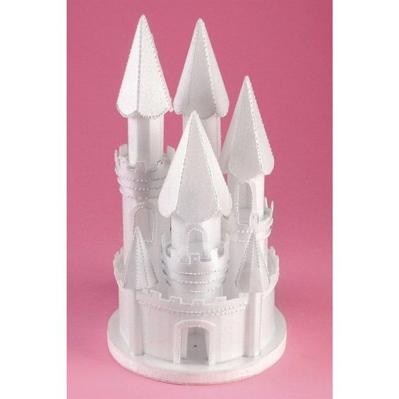 Styrofoam Castle Is The Perfect Cake Topper For A Fairy Tale Wedding Cake To View