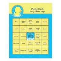 Wish | Ducky Duck - Baby Shower Game Bingo Cards - 16 Count