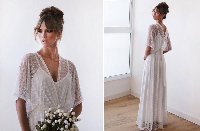 Het bewijs dat super eenvoudig ook super mooi kan zijn en niet duur! Je hebt deze trouwjurk van Blush al voor €213,65!