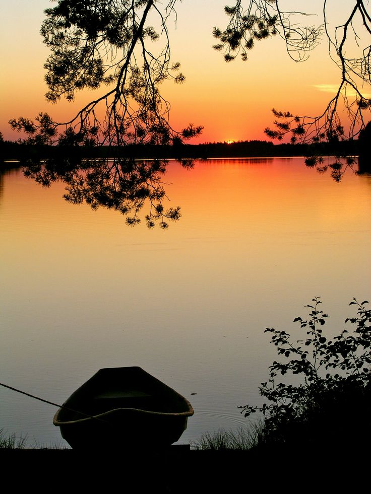 Summer sunset in Sonkajärvi, Finland.