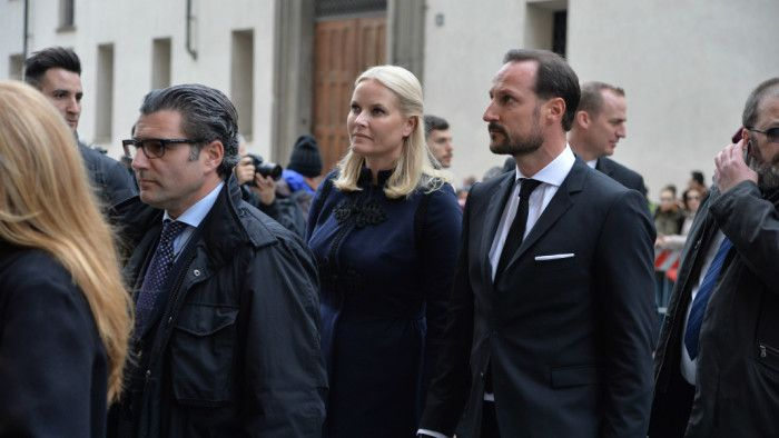 Crown Prince Haakon and Crown Princess Mette-Marit attended the memorial service of Franka Sozzani