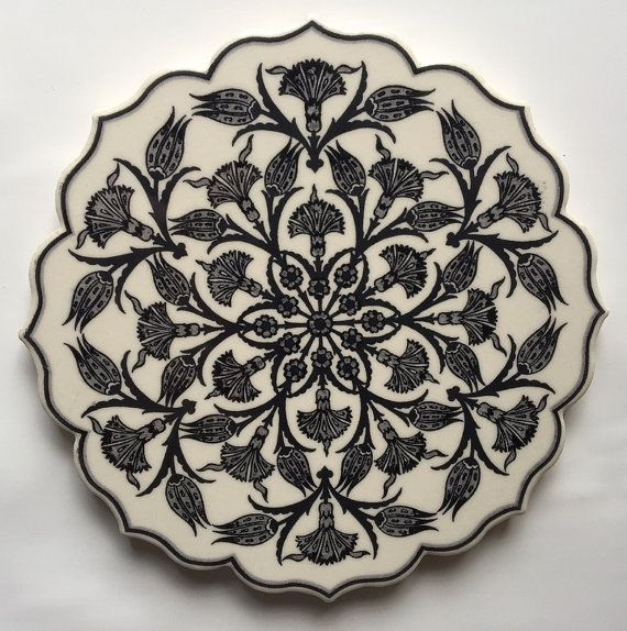 Trivet Turkish Ceramic Clay Star Trivet Plate Traditional