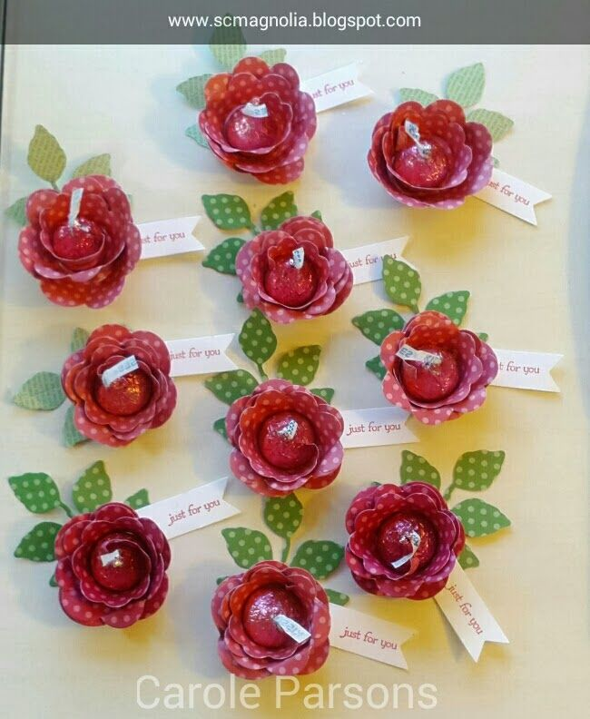 Hershey's Roses done by Carole Parsons