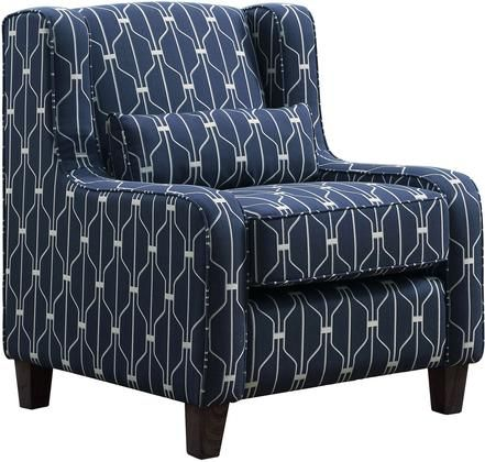 Hallstatt Collection 506293 30″ Accent Chair with Woven Fabric Upholstery  Lumbar Pillow Included   – Products
