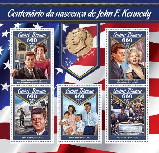 GB17004a Centenary of birth of John F. Kennedy (John F. Kennedy (1917–1963), Jacqueline Kennedy Onassis (1929–1994); Marilyn Monroe (1926–1962))