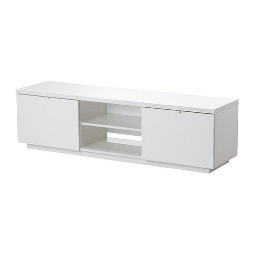 BYÅS TV unit IKEA The open compartment has an adjustable shelf for your DVD player, game console, etc.