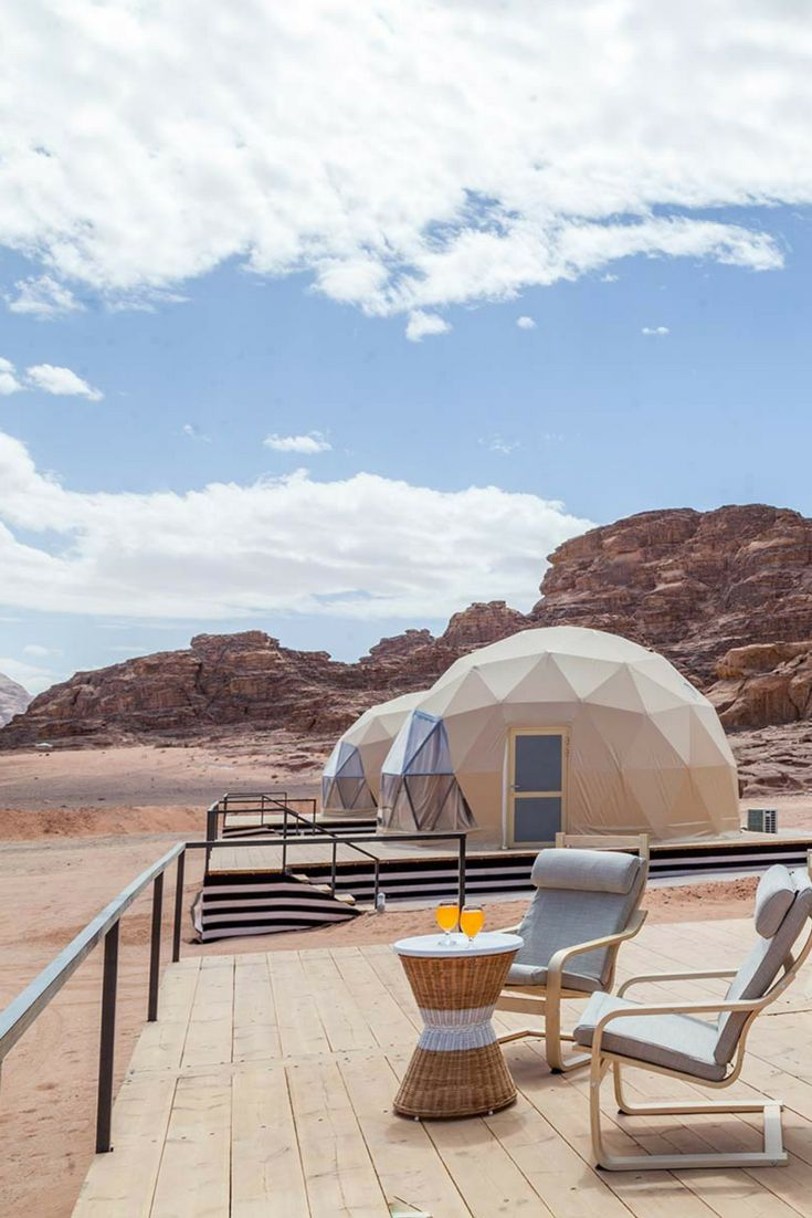 Kick back, relax, and soak up the sun outside one of these glamping domes  in Wadi Rum, Jordan!   Desert Glamping in 2019   Pinterest   Wadi Rum, ... 8315807c64