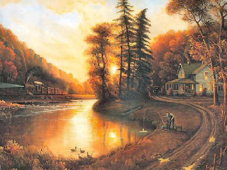 A Peaceful Evening by Jesse Barnes | Thomas Kinkade ...